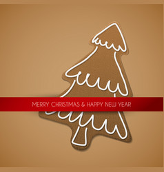 Christmas card - gingerbread tree vector