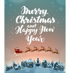 Christmas greeting card Xmas vector