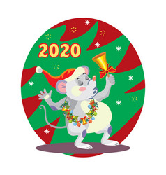 Christmas mouse 7 vector