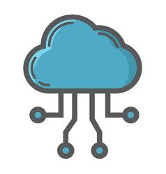 cloud computing filled outline icon seo vector image