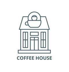 coffee house line icon coffee house vector image