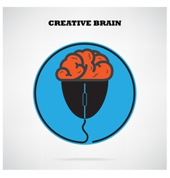 Creative brain symbol vector