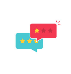 customer review communication symbol vector image