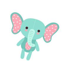 Cute soft baelephant plush toy stuffed cartoon vector