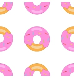 donut pattern big vector image