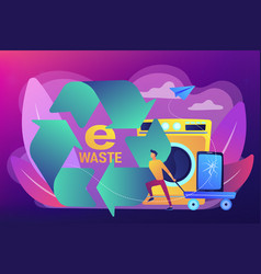 E-waste reduction concept vector