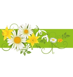 Easter flowers decoration vector