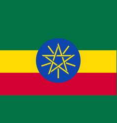 ethiopia flag for independence day and vector image