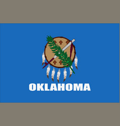 Flag of oklahoma usa vector