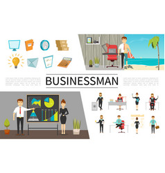 flat business people concept vector image
