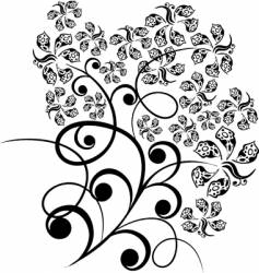 floral tattoo vector image