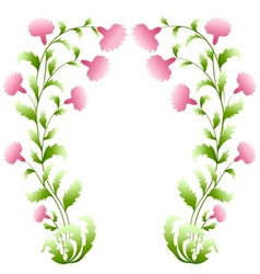 Flower arch vector image