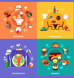 Food spot compositions set vector
