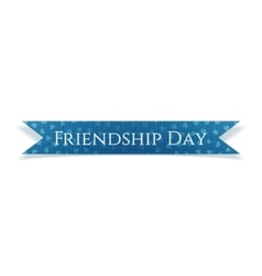 Friendship Day realistic blue textile Ribbon vector