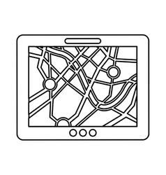 gps service isolated icon vector image