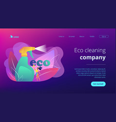 green cleaning concept landing page vector image