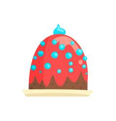 happy birthday party cake sweet dessert cartoon vector image