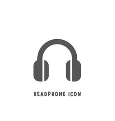 headphone icon simple flat style vector image