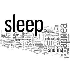 How to cure sleep apnea vector
