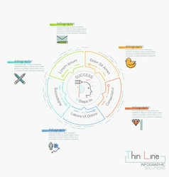 infographic design layout circular chart with 5 vector image vector image
