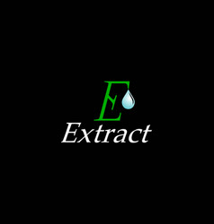 initial letter e for extract logo design vector image