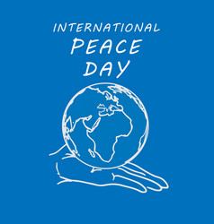 international peace day concept vector image
