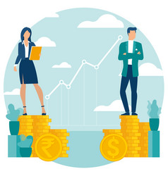 investor growing money abstract vector image