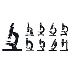 lab microscope icon set simple style vector image