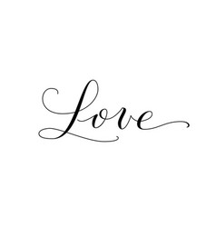 love word hand written custom calligraphy great vector image
