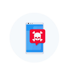 Malware spam fraud online scam icon vector