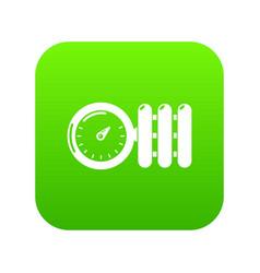 Manometer icon green vector