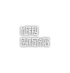 merry christmas xmas badge with handwritten vector image