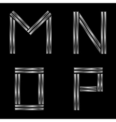 MNOP silver letters vector image