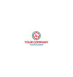 Monitoring health logo design vector