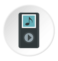 mp3 player icon circle vector image