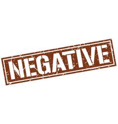 Negative square grunge stamp vector