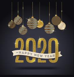 New year 2020 design vector
