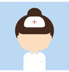 Nurse trendy flat style vector