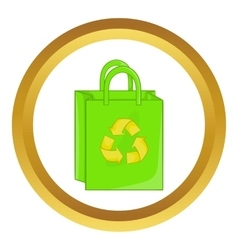 Package recycling icon vector image
