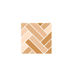 Parquet wooden floor logo icon design vector