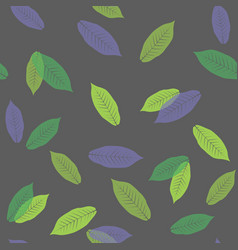 Pattern with leaves in khaki colors vector