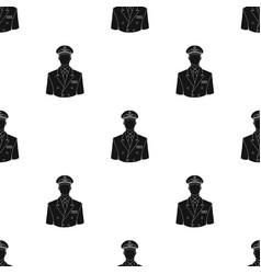 Pilotprofessions single icon in black style vector