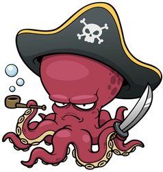 pirate octopus vector image
