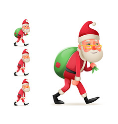 Pleased happy satisfied christmas santa claus vector