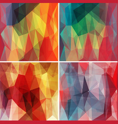 polygonal backgrounds set with abstract vector image