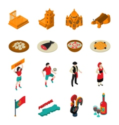 Portugal Icons Set vector image