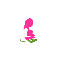 pregnancy mother logo vector image