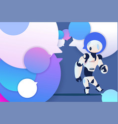 profile robot new idea chat support over bubbles vector image