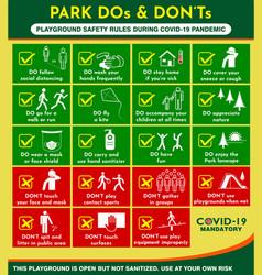 Public park rules poster or public health vector