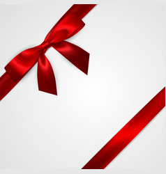 Realistic red bow with red ribbons isolated on vector